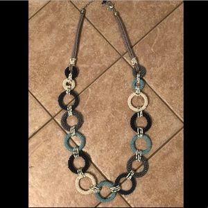 Chico's shades of blue ring necklace